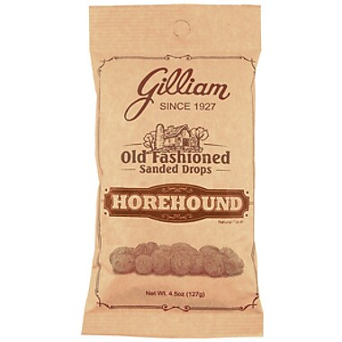 Horehound Sanded Drops, 4.5 oz. Peg Bag, 24 Bags/Box