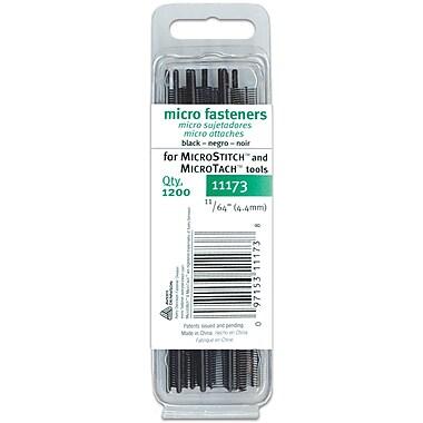 Micro Stitch Fastener Refills, 4.4mm, Black, 11/64