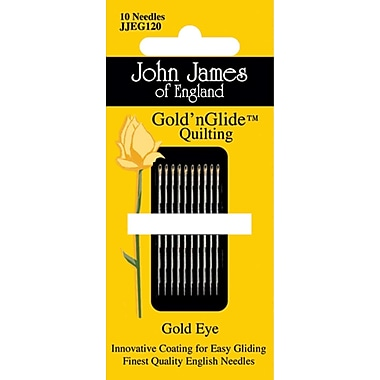 Colonial Needle Gold'n Glide Quilting Needles, Size 9, 10/Pack