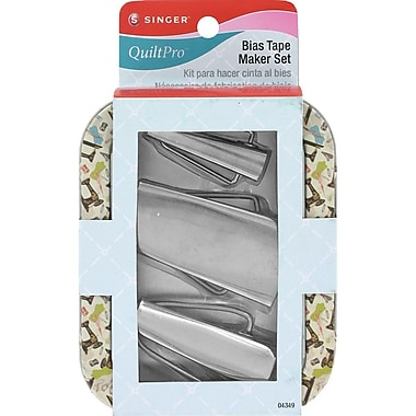 QuiltPro Bias Tape Maker Set In Decorative Tin