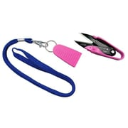 "Dura Snips Squeeze-Style Thread Snips, 4-3/4"", Pink & Blue"