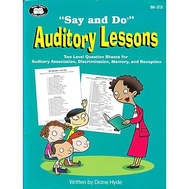 Super Duper® Say and Do® Auditory Lessons Book, Grades PreK-5