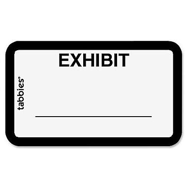 Tabbies Exhibit Labels, White