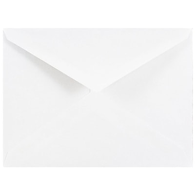 JAM Paper A2 Invitation Envelopes 4 3 8 x 5 3 4 White with V Flap 25 pack 4023206