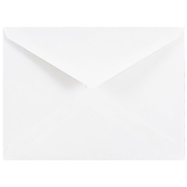 JAM Paper® A2 Invitation Envelopes, 4 3/8 x 5 3/4 , White with V-Flap, 1000/carton (04023206B)