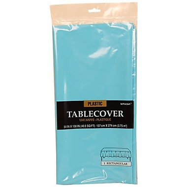 JAM Paper® Plastic Table Covers, Sea Blue Table Cloths, Sold Individually (291423363)