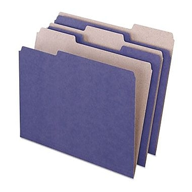Pendaflex® Earthwise® Recycled Color File Folders, 3 Tab Positions, Letter Size, Violet, 100/Box (4335)