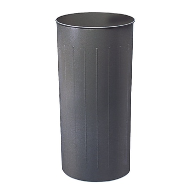 Safco® Round Wastebasket, Charcoal, 20 gal.