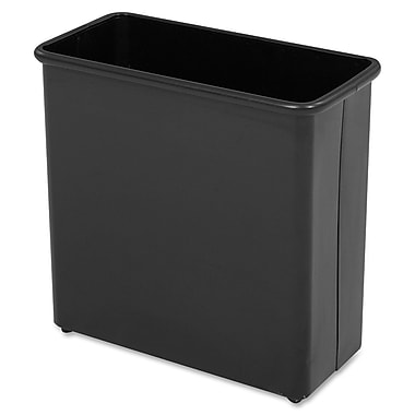 Safco® 27 1/2-Quart Rectangular Fire-Safe Wastebasket, Black
