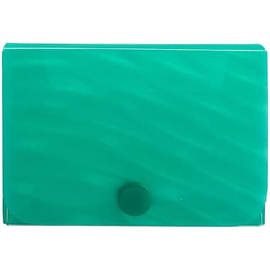 JAM Paper® Plastic Business Card Case with Snap Closure, Green Wave, Sold Individually (245012472)