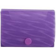 JAM Paper® Plastic Business Card Case with Snap Closure, Purple Wave, Sold Individually (556WPU)