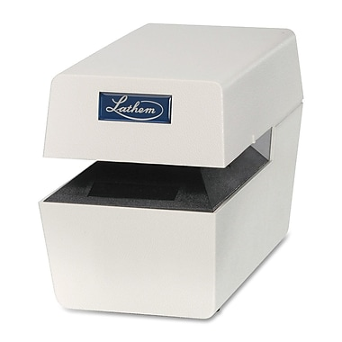 Lathem LTT Metal Duty Time/Date Stamp, Cool Gray