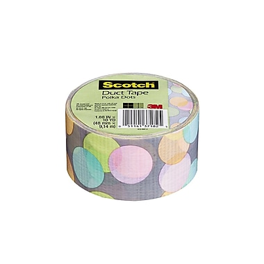 Scotch® Brand Duct Tape, Poka Dots, 1.88
