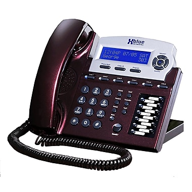 XBLUE X16 6-Line Small Office Digital Telephone, Red Mahogany