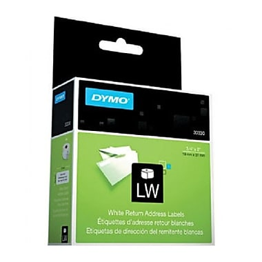 DYMO® 30330 LabelWriter Self-Adhesive Return Address Labels, White, Roll of 500
