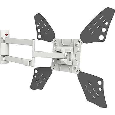 Barkan Curved / Flat Panel Dual Arm TV Wall Mount, Full Motion, Fits 32