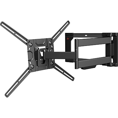 Barkan Curved / Flat Panel Dual Arm TV Wall Mount, Full Motion , Fits 32