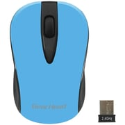 Gear Head (MP2100NBL) USB Wireless Optical Nano Mouse, Neon Blue