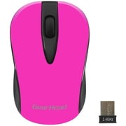 Gear Head (MP2100NPK) USB Wireless Optical Nano Mouse, Neon Pink