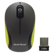 Gear Head (MP1975) USB Wireless Optical Travel Mouse, Black