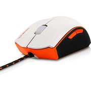 V7  (GM120-2N) USB Wired Optical Gaming Mouse, White/Orange/Black