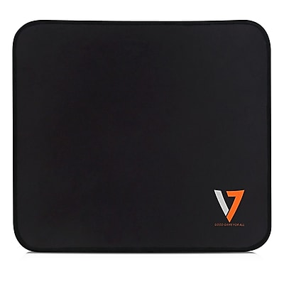 V7 High-Performance Medium Pro Fabric\/Rubber 11.22 x 12.6 Textured Black Gaming Mouse Pad (GP110-2N)