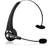 NoiseHush  (N720M-13220) Bluetooth Over-the-Head Multipoint Mono Headset with Boom Microphone, Black