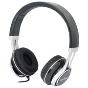 Gear Head  HS3500 Wired Stereo Studio Headphone, Black/Silver
