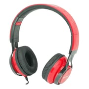 Gear Head  HS3500 Wired Stereo Studio Headphone, Black/Red
