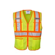 Open Road Zipper Safety Vest Green (U6112G-XL)
