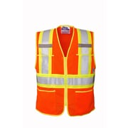 Open Road Zipper Safety Vest Orange (U6112O-5XL)