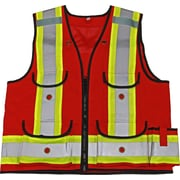 Viking Professional All Trades 1000D Surveyor Safety Vest Red (4915R-M)