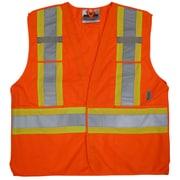 Viking 5pt. Tear Away Safety Vest Polyester Orange (U6135O-S/M)