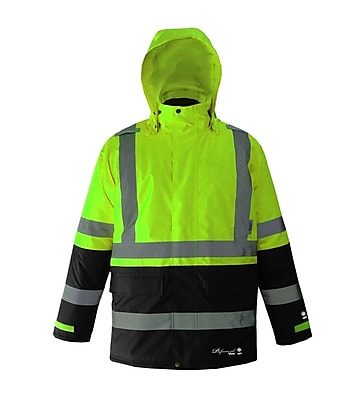 Viking Professional Freezer Trilobal Ripstop 2 tone Safety Jacket Green D6455JG S