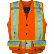 Viking Professional Trilobal Ripstop Surveyor Safety Vest Orange (U3995O-L)