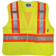 Viking 5pt. Tear Away Safety Vest Mesh Green (U6125G-2XL/3XL)