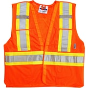 Viking 5pt. Tear Away Safety Vest Mesh Orange (U6125O-L/XL)
