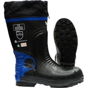 Viking Ultimate Construction Safety Boot, ASTM F2413-11 Steel Toe, Steel Plate, NBR Rubber, Blue and Black (VW88-13)