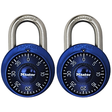 Master LockMD – Cadenas à combinaison, couleurs assorties, 2 par paquet