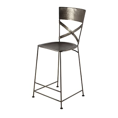Wildon Home X-Back Counter Stool; Antique Nickel