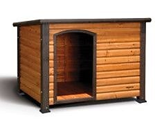 Precision Pet Outback Log Cabin Dog House;
