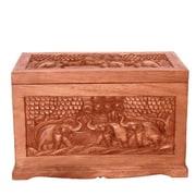 EXP D cor Handmade 23'' Exotic Elephant Design Wood Coffee Table