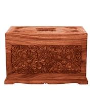 EXP D cor Handmade 23'' Tropical Flowers Design Wood Coffee Table