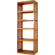 John Louis Home 16'' Deep Stand Alone Tower with Adjustable Shelves; Honey Maple