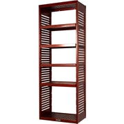 John Louis Home 16'' Deep Stand Alone Tower with Adjustable Shelves; Red Mahogany