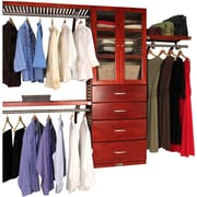 John Louis Home 16'' Deep Deluxe Organizer with Doors and 4 Drawers; Red Mahogany