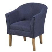 HomePop Upholstered Barrel Chair; Navy