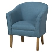 HomePop Upholstered Barrel Chair; Teal