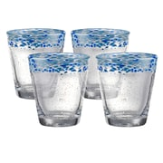 Artland Mingle 14 Oz. Double Old Fashioned Glass (Set of 4); Turquoise