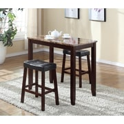 Roundhill Furniture 3 Piece Counter Height Pub Table Set